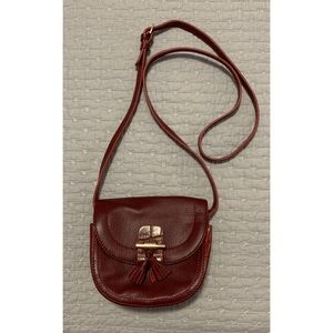 Mini Burgundy Crossbody Bag - rare!